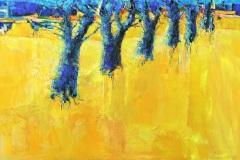 156 | Gelbe Allee | 80 x 120 cm