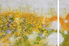 908 | Juniwiese | zweiteilig 170 x 70 cm